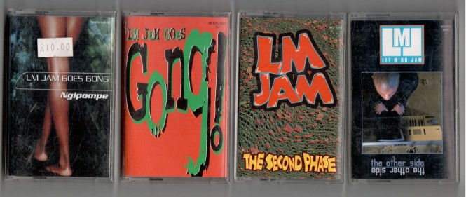 Left - right: LM Jam Goes Gong (Ngipompe), LM Jam Goes Gong (LM Jam Goes Goeng), LM Jam (The Second Phase), Let Mdu Jam (The Other Side)